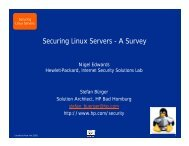 Securing Linux Servers - A Survey