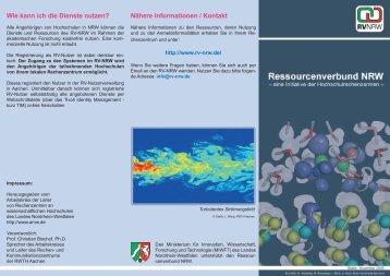 allgemeine Informationen - Ressourcenverbund NRW