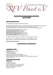 Zeiteinteilung Vereinsmeisterschaften 2011 am 16 - Reit- und ...