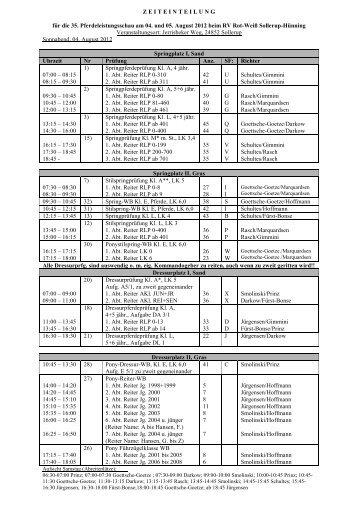 Zeiteinteilung 2012 - rv-sollerup-huenning.de