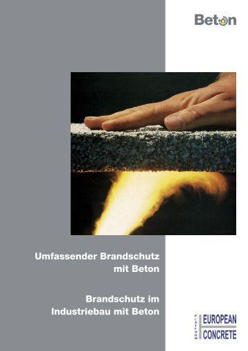 Umfassender Brandschutz mit Beton Brandschutz im ... - Betonshop