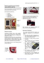 Bedienungsanleitung für die Solar- leuchte SOLUX ... - r.van laere