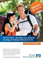 RVTour2012–IhreBankzum Anfassen Sonntag, 14. Oktober 2012 ab ...