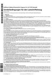 Sonderbedingungen für den Lastschrifteinzug - Raiffeisen ...