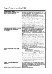 Fragen-/Antworten-Sammlung (FAQs) Allgemeine Fragen