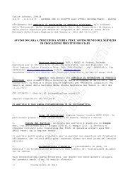 avviso di gara a procedura aperta per l'affidamento del servizio di ...