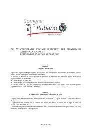Oggetto: CAPITOLATO SPECIALE D'APPALTO PER SERVIZIO DI ...