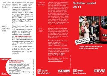 Schüler mobil 2011 - RVM