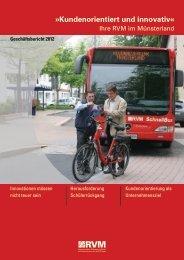 Geschäftsbericht 2012 - RVM