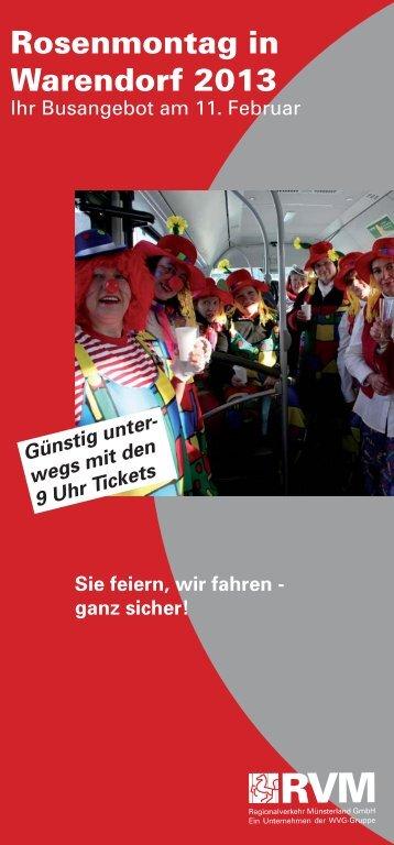 Fahrplan Karneval Warendorf - RVM
