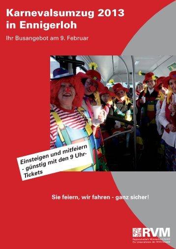 Fahrplan Karneval Ennigerloh - RVM