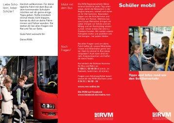 Schüler mobil - RVM