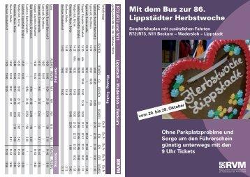 Fahrplan zur Lippstädter Herbstwoche - RVM