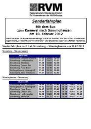 Fahrplan Karneval Sünninghausen - RVM