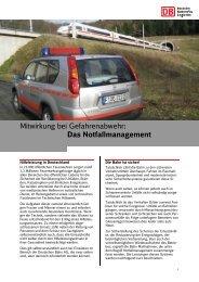 Das Notfallmanagement - Deutsche Bahn AG