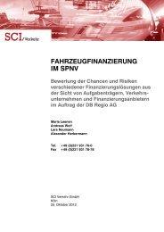 FAHRZEUGFINANZIERUNG IM SPNV - Deutsche Bahn AG