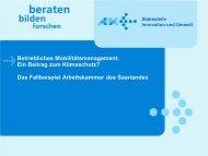 Betriebliches Mobilitätsmanagement der Arbeitskammer des ...