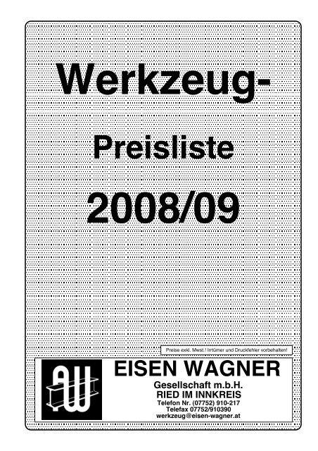 Werkzeug - Eisen Wagner