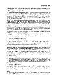 und Tarifbestimmungen 2014 - RVV Regensburger Verkehrsverbund