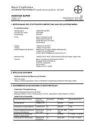 Bayer CropScience - RW Agrar GmbH Hassberge