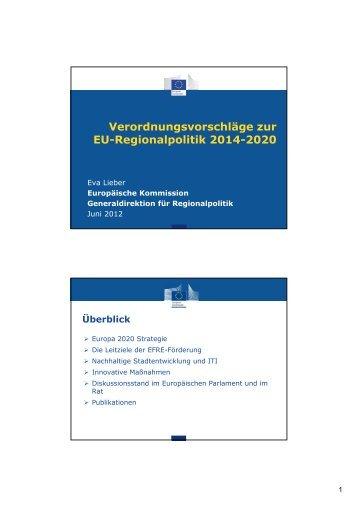 EU-Regionalpolitik in der Förderperiode 2014-2020 - RWB-EFRE