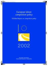 European Union competition policy - Biblioteca do Paraíso