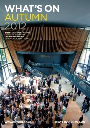 WHAT'S ON AUTUMN 2012 - Royal Welsh College of Music & Drama