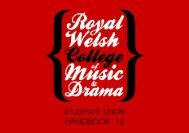 Untitled - Royal Welsh College of Music & Drama