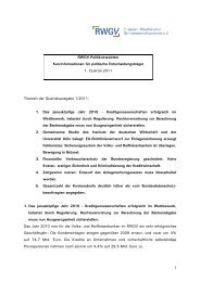 Politiknewsletter 1/2011 zum Download - RWGV