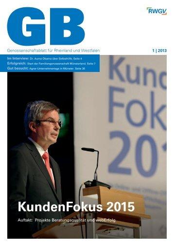 Genossenschaftsblatt 1/2013 - RWGV