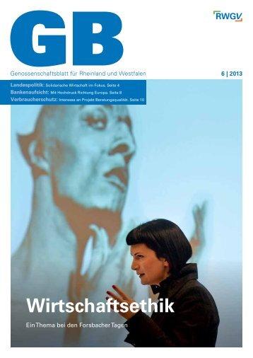 Genossenschaftsblatt 6/2013 - RWGV