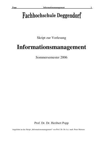 Informationsmanagement