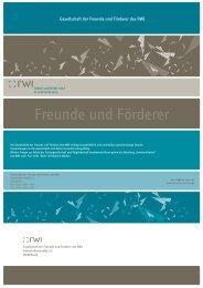 Flyer - Rheinisch-Westfälisches Institut für Wirtschaftsforschung