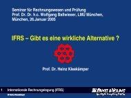 Kritik an IFRS - Seminar für Rechnungswesen und Prüfung