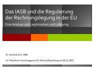 Vortrag Dr. Gerhard Kurz, MBR