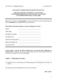INTERNATIONALE RECHNUNGSLEGUNG - Seminar für ...