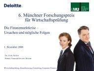 Vortrag von Herrn Dr. Ulrich Theileis, Partner, Financial Services ...