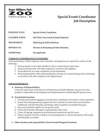 beaufiful event coordinator job description photos resume