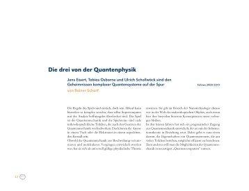 Die drei von der Quantenphysik