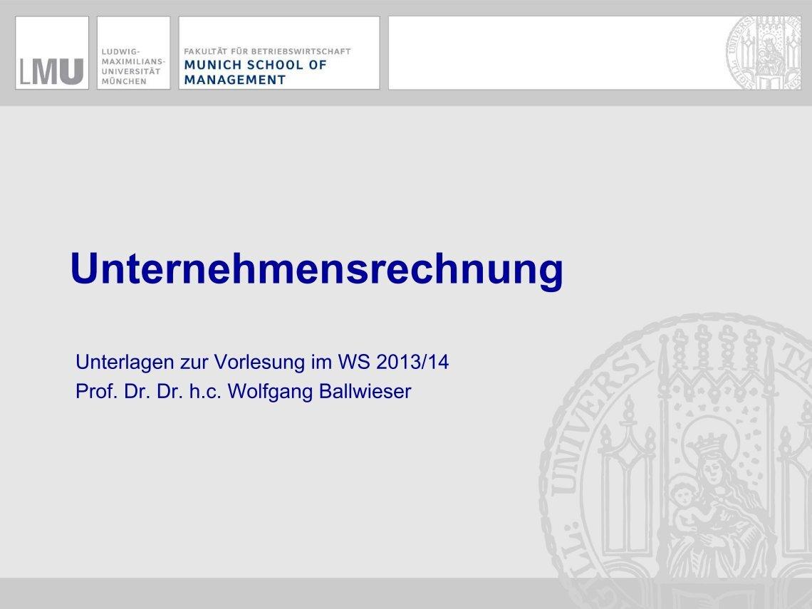 Bwl Uni München