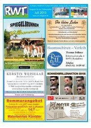 Juli - RWT - Magazin für die Südwestpfalz