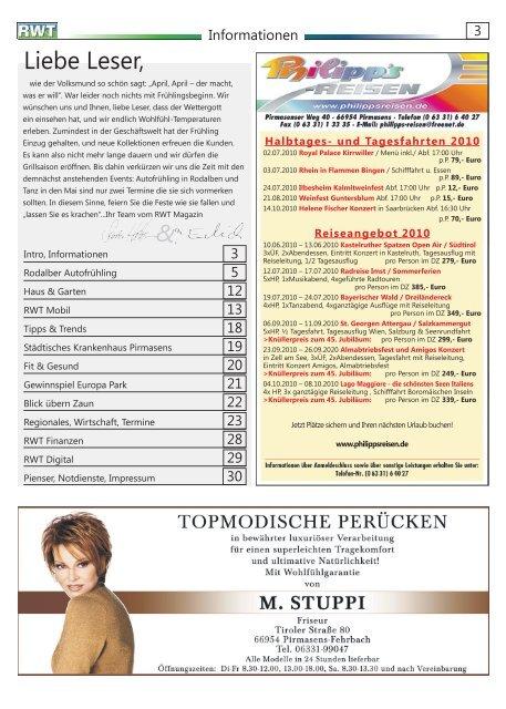 April 2010 - RWT - Magazin für die Südwestpfalz