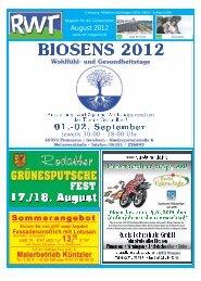 August 2012 - RWT - Magazin für die Südwestpfalz