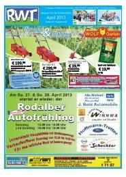 April - RWT - Magazin für die Südwestpfalz