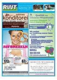 September - RWT - Magazin für die Südwestpfalz