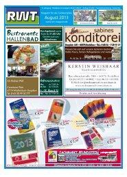 August - RWT - Magazin für die Südwestpfalz