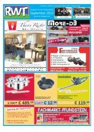 September 2012 - RWT - Magazin für die Südwestpfalz