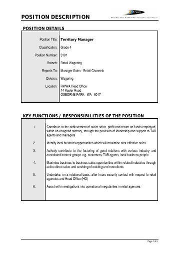job description position territory manager b business position description territory manager