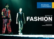 to download a School of Fashion brochure (PDF) - Ryerson University
