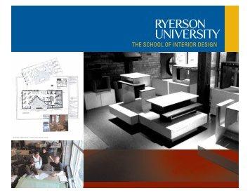 THE SCHOOL OF INTERIOR DESIGN - Ryerson University